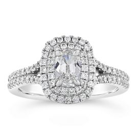 Henri Daussi 14k White Gold Diamond Engagement Ring 3/4 ct. tw.