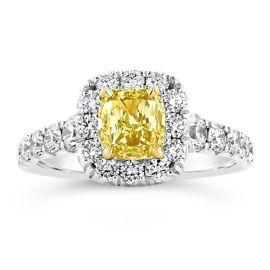 Henri Daussi 18k White Gold and 18k Yellow Gold Diamond Engagement Ring 1 ct. tw.
