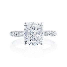 Tacori Platinum Diamond Engagement Ring Setting 1/2 ct. tw.