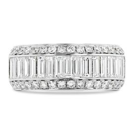 Divine 14k White Gold Diamond Wedding Band 1 3/4 ct. tw.