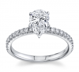 Eternalle Lab-Grown 14k White Gold Diamond Engagement Ring 1 1/5 ct. tw.