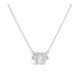 Eternalle Lab-Grown 14k White Gold Necklace 3/4 ct. tw.
