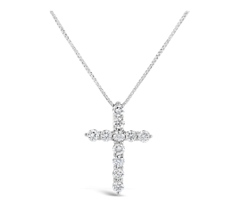 Eternalle Lab-Grown 10k White Gold Pendant 1/3 ct. tw.
