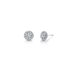 Eternalle Lab-Grown 14Kt White Gold Earrings 1 cttw