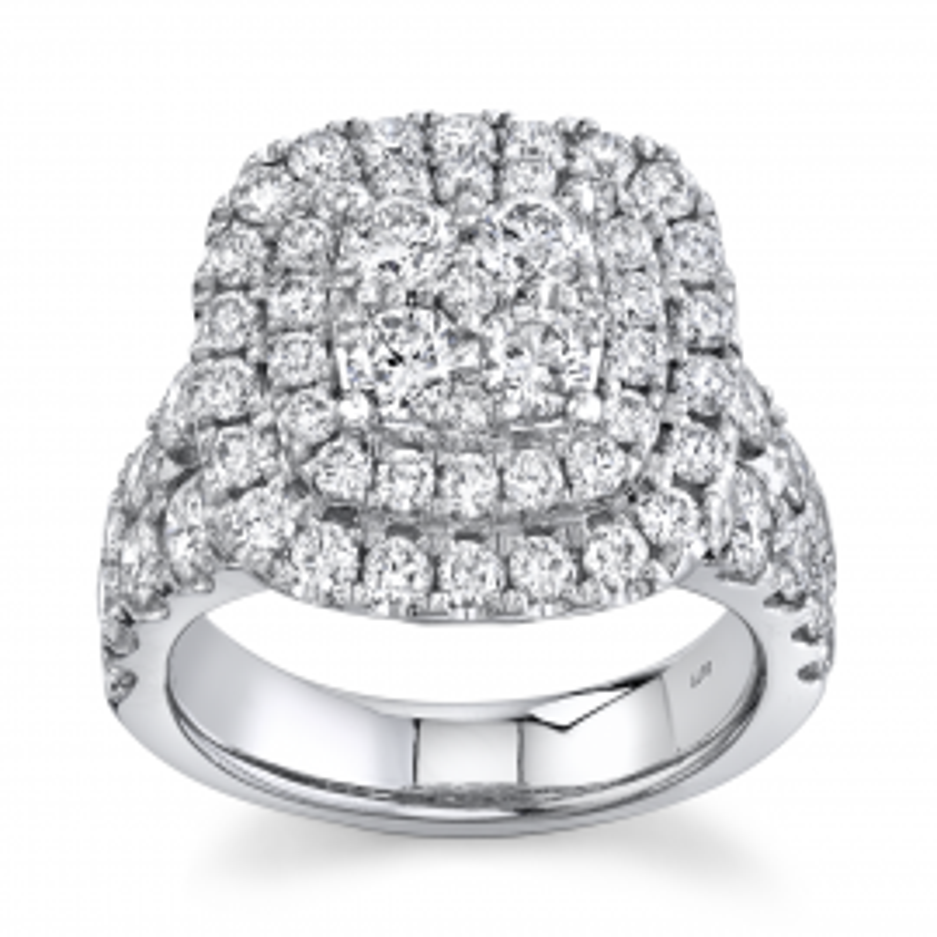 Eternalle Lab-Grown 14Kt White Gold Diamond Engagement Ring 3 cttw