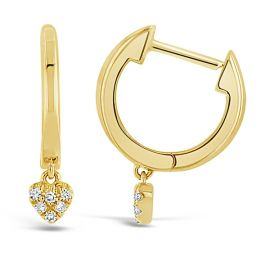 Shy Creation 14Kt Yellow Gold Earrings .03 cttw