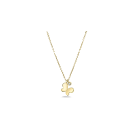 Shy Creation 14Kt Yellow Gold Necklace .02 cttw