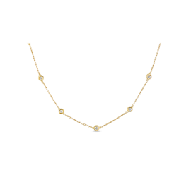 Shy Creation 14Kt Yellow Gold Necklace 1/2 cttw
