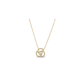 Shy Creation 14Kt Yellow Gold Necklace 1/6 cttw