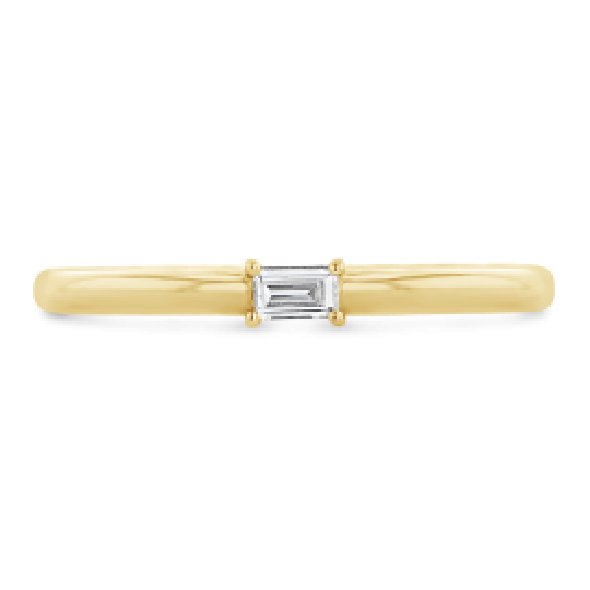 Shy Creation 14k Yellow Gold Diamond Wedding Ring .05 ct. tw.