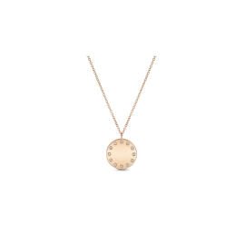 Shy Creation 14Kt Rose Gold Necklace .07 cttw