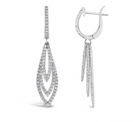 14k White Gold Earrings 1 1/2 ct. tw.