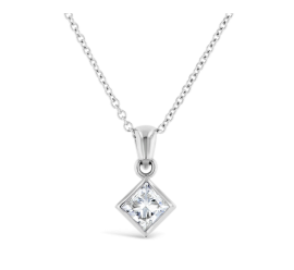 14k White Gold Pendant 1/2 ct. tw.