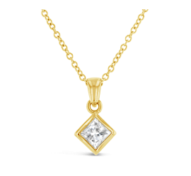 14k Yellow Gold Pendant 1/2 ct. tw.