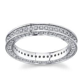 Gravure 14Kt White Gold Diamond Wedding Band 1 cttw
