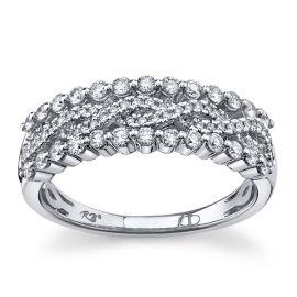 14Kt White Gold Diamond Wedding Ring 1/2 cttw