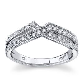 14Kt White Gold Diamond Wedding Ring 3/8 cttw
