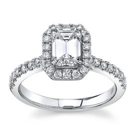 Eternalle Lab-Grown 14Kt White Gold Diamond Engagement Ring  1 1/3 ctw