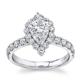 Eternalle Lab-Grown 14Kt White Gold Diamond Engagement Ring  2 ctw
