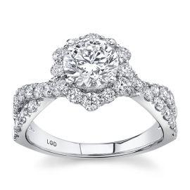 Eternalle Lab-Grown 14Kt White Gold Diamond Engagement Ring  1 7/8 ctw