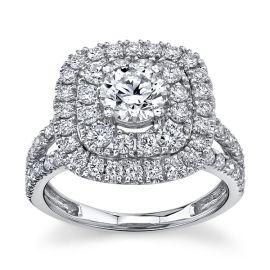 Eternalle Lab-Grown 14Kt White Gold Diamond Engagement Ring  1 7/8 cttw