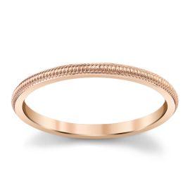 14Kt Rose Gold 1.5 mm Wedding Band