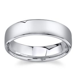 14Kt White Gold 6 mm Wedding Band