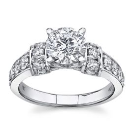 Eternalle Lab-Grown 14Kt White Gold Diamond Engagement Ring  2 cttw
