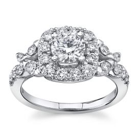 Eternalle Lab-Grown 14Kt White Gold Diamond Engagement Ring  1 1/2 cttw