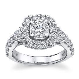 Eternalle Lab-Grown 14Kt White Gold Diamond Engagement Ring  2 cttw