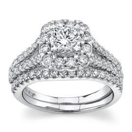 Eternalle Lab-Grown 14Kt White Gold Diamond Wedding Set 1 3/4 cttw