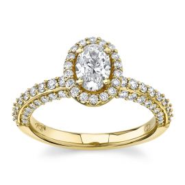 Poem 14Kt Yellow Gold Diamond Engagement Ring  1 cttw