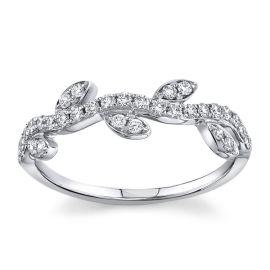 14Kt White Gold Diamond Wedding Band 1/4 cttw