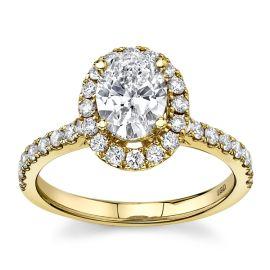Eternalle Lab-Grown 14Kt Yellow Gold Diamond Engagement Ring  1 1/3 cttw