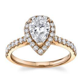 Eternalle Lab-Grown 14Kt Rose Gold Diamond Engagement Ring  1 1/3 cttw