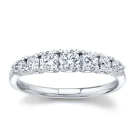 14k White Gold Diamond Wedding Ring 3/4 ct. tw.