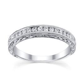 14k White Gold Diamond Wedding Band 1/6 ct. tw.