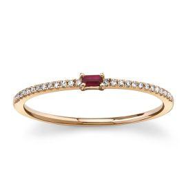 Shy Creation 14k Rose Gold Diamond Wedding Ring 0.07 ct. tw.