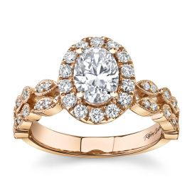 RB Signature 14Kt Rose Gold Diamond Engagement Ring Setting 3/8 cttw