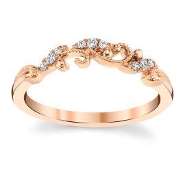 Kirk Kara 14k Rose Gold Diamond Wedding Band .05 ct. tw.