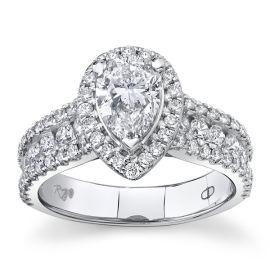 Poem 14Kt White Gold Diamond Engagement Ring 2 cttw