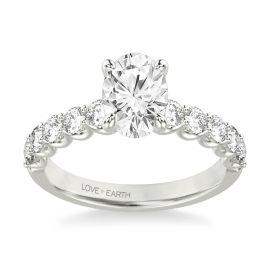 Love Earth 14Kt White Gold Diamond Engagement Ring Setting 3/4 ct. tw