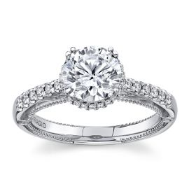 Verragio 18Kt White Gold Diamond Engagement Ring Setting 1/4 cttw