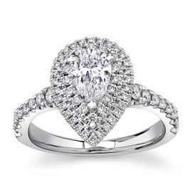 Eternalle Lab-Grown 14Kt White Gold Diamond Engagement Ring 1 1/3 cttw