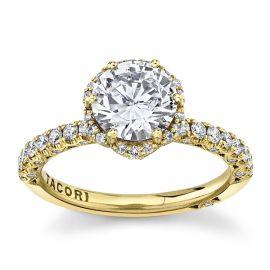 Tacori 18Kt Yellow Gold Diamond Engagement Ring Setting 1/2 cttw