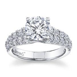 Simon G. Platinum Diamond Engagement Ring Setting 7/8 ct. tw.