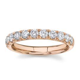 Divine 14k Rose Gold Diamond Wedding Band 3/4 ct. tw.