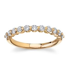 Divine 18Kt Rose Gold Diamond Wedding Band 1/2 cttw