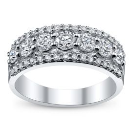 14k White Gold Diamond Anniversary Ring