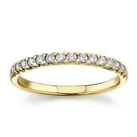 14k Yellow Gold Diamond Wedding Band 1/4 ct. tw.